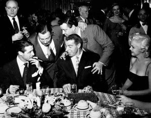 DiMaggio, Monroe and Gleason on a typical night at Toots Shor's