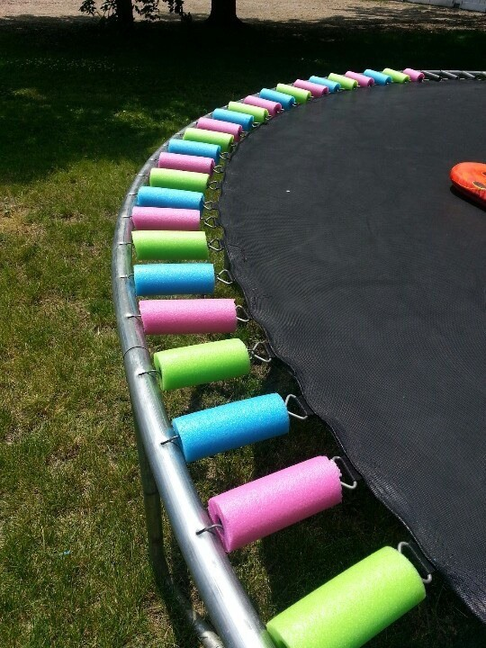 Pool noodles are great for protection.