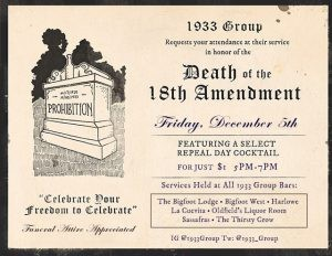 1933 Group Repeal Day Specials