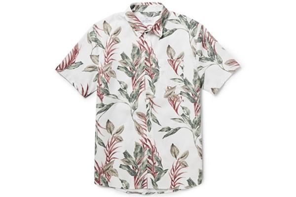 Hentsch Man Printed Cotton-Poplin Short-Sleeved Shirt