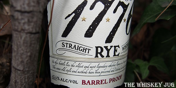 James E Pepper Barrel Proof Rye Label