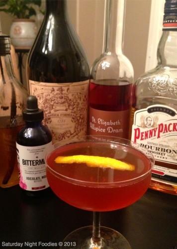 Penny Packer Bourbon, Carpano Antica and Allspice Dram