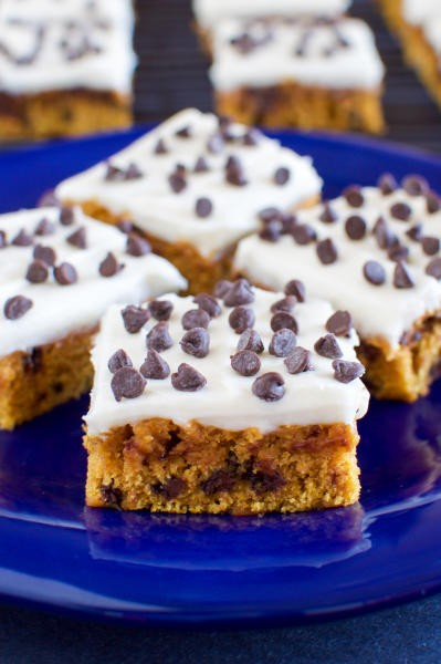 Pumpkin Bars with Cream Cheese Frosting Image