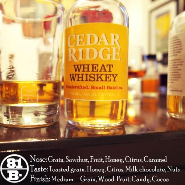 Cedar Ridge Wheat Whiskey Review