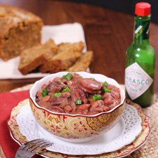 New orleans style red beans and rice today a classic new orleans recipe for red beans and rice made with red beans spicy sausage onions garlic and green bell peppers one of my familys favorite forumfinder Images