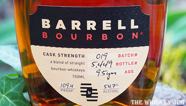 Label for the Barrell Batch 19