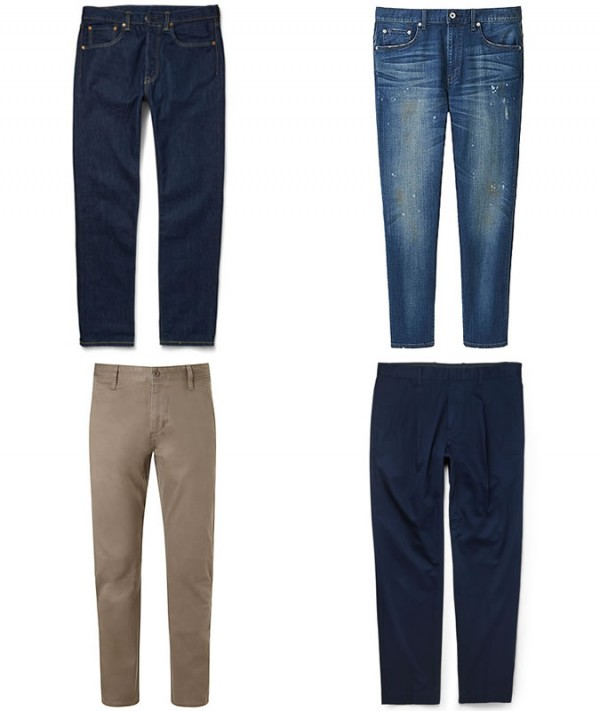Men's Tapered Jeans and Chinos