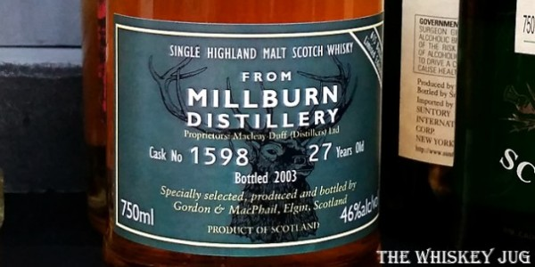 Millburn 27 Years Gordon & Machphail Label