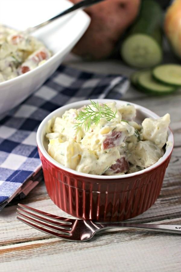 Creamy Dill and Cucumber Potato Salad