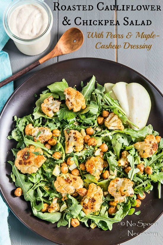 Roasted Cauliflower & Chickpea Salad short pin3