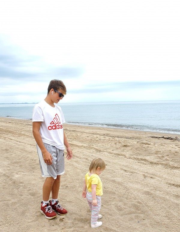 My 14 year old stepson Chris and daughter Violet at the Indiana Dunes