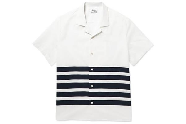 Acne Ody Striped Cotton-Poplin Shirt