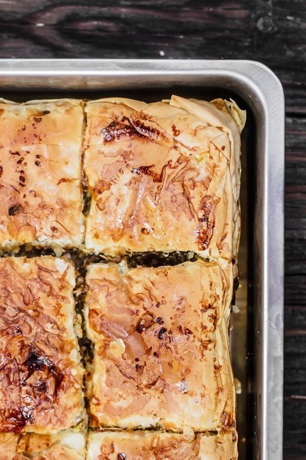 Phyllo Meat Pie | The Mediterranean Dish