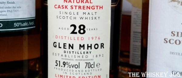 1976 Glen Mohr 28 years Rare Malts Label