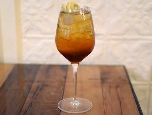 Young Professor at La Rina Pastifficio & Vino: Amaro Lucano, Vermouth Rosso del Profossore, Prosecco Gazzosa
