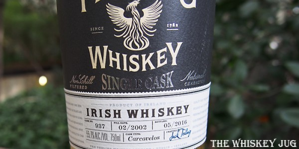 Teeling Single Barrel Carcavelos Finish Label