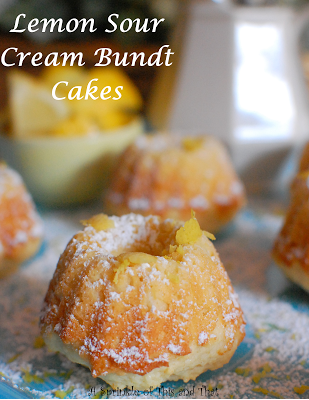 Lemon Sour Cream Bundt Cakes By A Sprinkle Of This And
