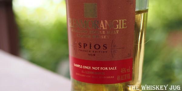 Glenmorangie Spios Label