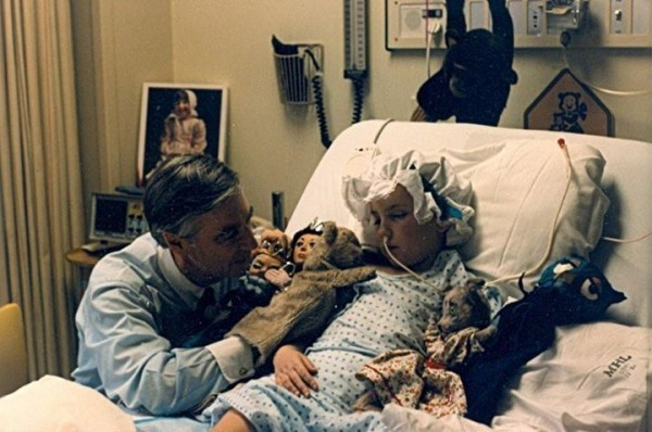 Mister Rogers and Beth in Johns Hopkins Children's Hospital