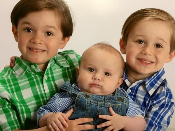 Eileen Cordero's sweet boys: Tony, Leo and Hudson