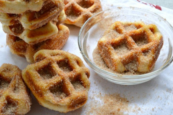 ... Cinnamon Sugar Waffle Bites kind of makes it that much more delicious