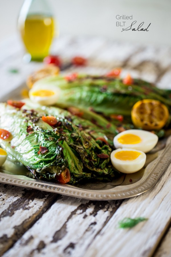 BLT Grilled Romaine Wedge Salad with Lemon Dill ...