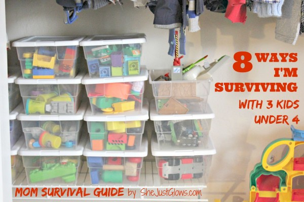 Mom Survival Guide: 8 Ways I'm Surviving With 3 Kids Under 4 SheJustGlows.com