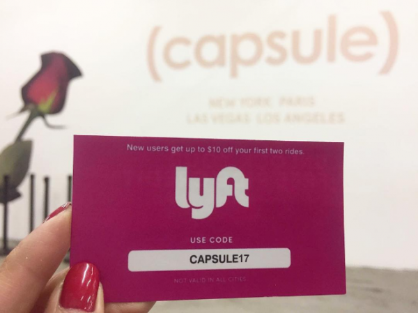Lyft is the Official Ridesharing Partner of CAPSULE Men's Show in New York!
