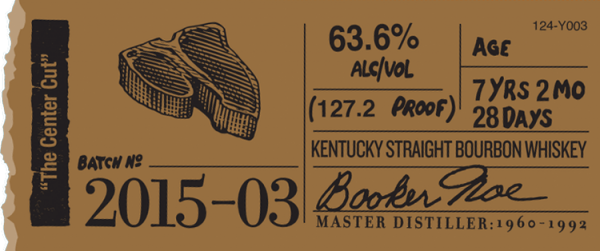 Booker's Bourbon Center Cut Label