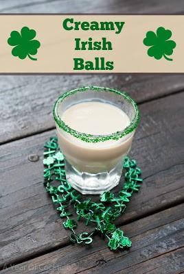 creamy irish balls cocktail, baileys, irish cream liqueur, fireball whisky, cinnamon whisky