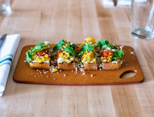Summer Corn Bruschetta | Whiskey and Soba