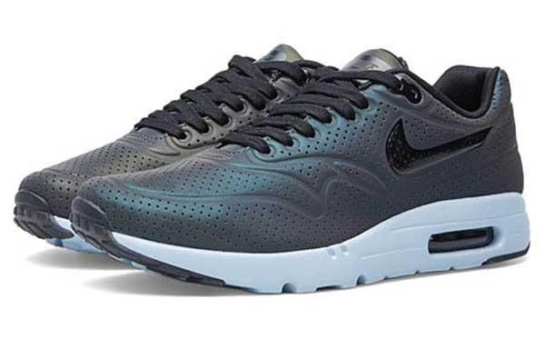 Nike Air Max 1 Ultra Moire Qs Iridcent Deep Pewter Black 2
