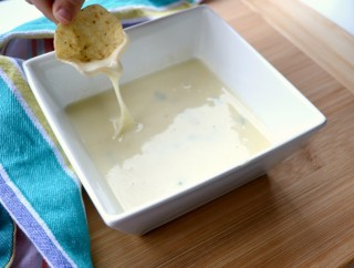 Mexican Restaurant Style White Queso Dip