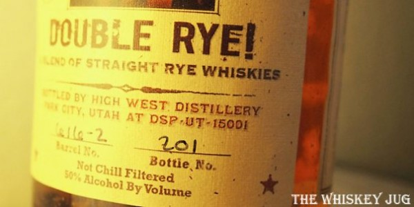 High West Double Rye Barrel Select Label