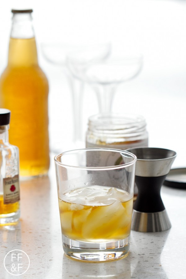 Fig and Bourbon Fizz made with Just Jan's, Four Roses Bourbon and IBC Cream Soda