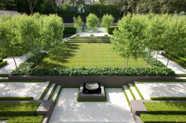 modern landscape design stone path