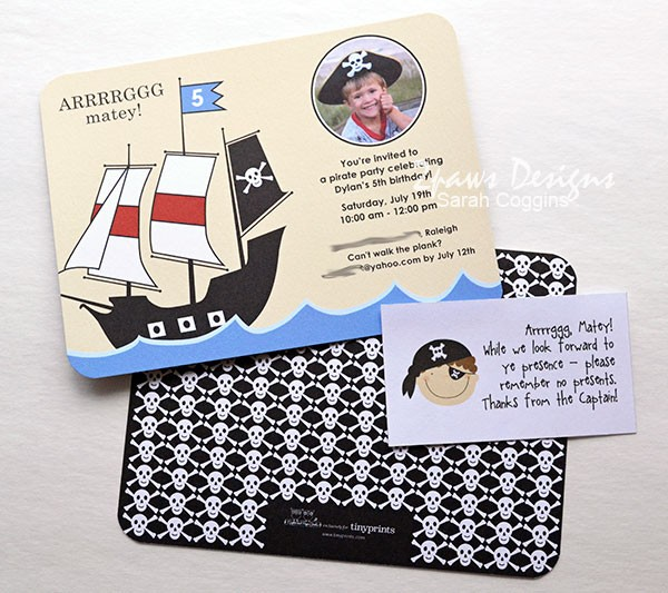 Pirate Party Invitations from Tiny Prints