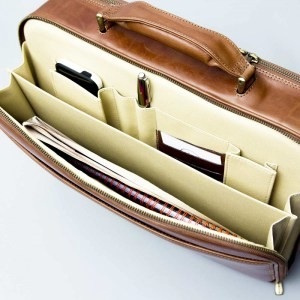 The Volterra leather laptop briefcase