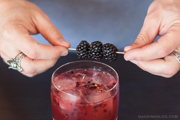 garnish with blackberries