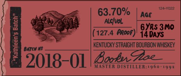 Booker's Bourbon Kathleen's Batch Label