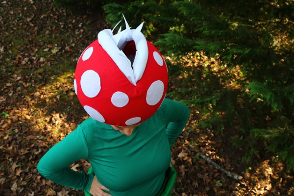 Super Mario Bros Family Costumes featuring Mario Bros. Piranha Flower