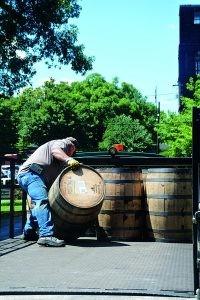 rolling barrels at Buffalo Trace, courtesy Clerisy Press
