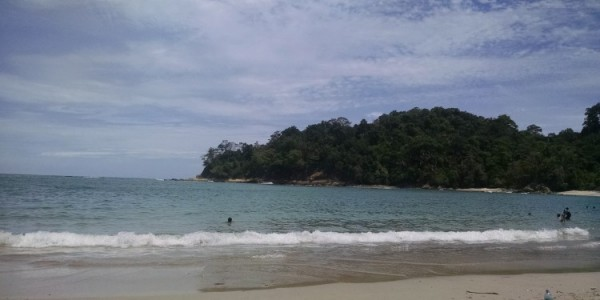 The beach in the park was beyond picturesque with soft white sand and a calm lagoon overlooked by dense forest.