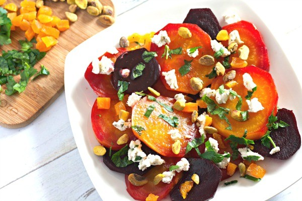 Beet Salad with Goat Cheese, Apricots, and Pistachios by Karrie ...