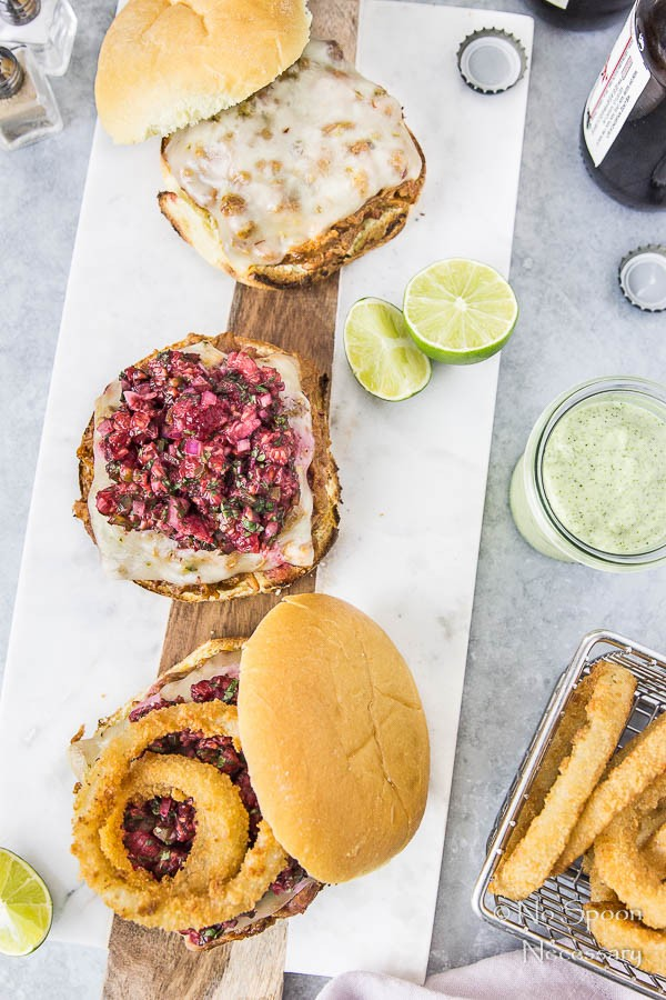 BBQ Pulled Pork Sandwich with Raspberry Salsa & Cilantro-Lime Aioli-61