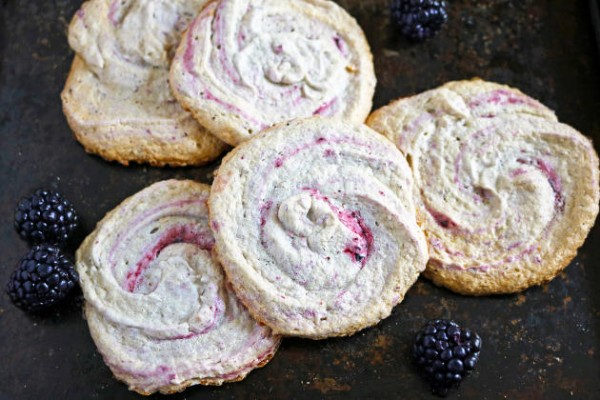 Blackberry Meringue Cookies Photo
