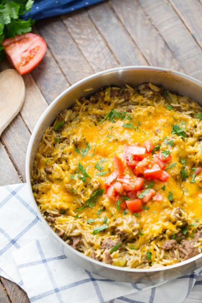 Easy Cheeseburger Skillet Picture