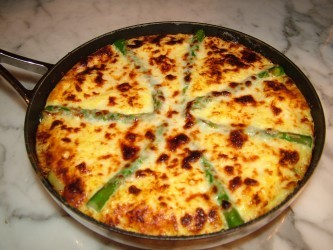 The Welsh Hills Inn Asparagus-Artichoke-Leek Frittata by BnBFinder ...