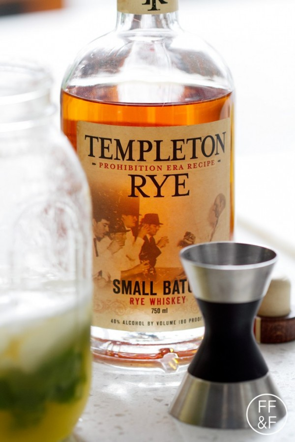 Pineapple Whiskey Punch made with Templeton Rye Whiskey
