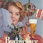 christmas budweiser ad from 1957